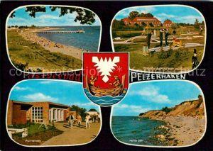 AK / Ansichtskarte Pelzerhaken Badestrand Promenade Hohes Ufer Minigolf Jugendheim Kat. Neustadt in Holstein