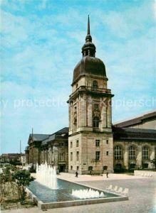 AK / Ansichtskarte Darmstadt Hessisches Landesmuseum Wasserspiele Tor zum Odenwald und Bergstrasse Kat. Darmstadt