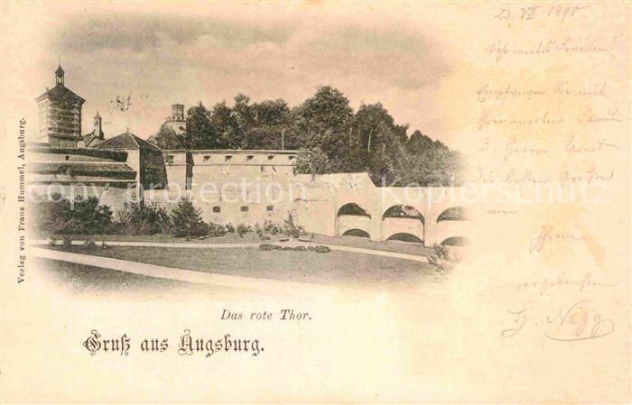 AK / Ansichtskarte Augsburg Das rote Thor Kat. Augsburg