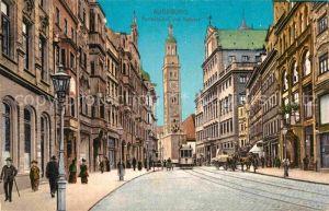 AK / Ansichtskarte Augsburg Perlachturm und Rathaus Kat. Augsburg