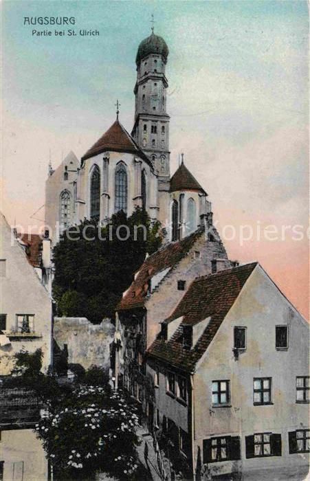 AK / Ansichtskarte Augsburg Partie bei St Ulrich Kat. Augsburg