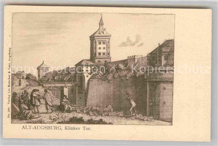 AK / Ansichtskarte Augsburg Alt Augsburg Klinker Tor Kat. Augsburg