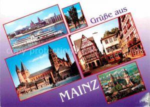 AK / Ansichtskarte Mainz Rhein Rheinufer Fastnachtsbrunnen Dom Marktplatz Kirschgarten Kirche