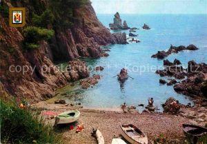 AK / Ansichtskarte Platja d Aro Bucht Badestrand Bootfahren Kueste