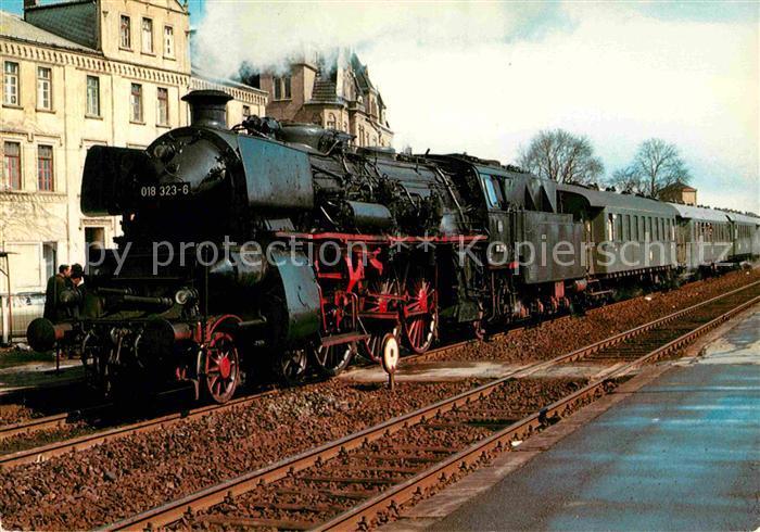 AK / Ansichtskarte Lokomotive Schnellzug Lokomotive 018323 6 Bahnhof Lippstadt  Kat. Eisenbahn