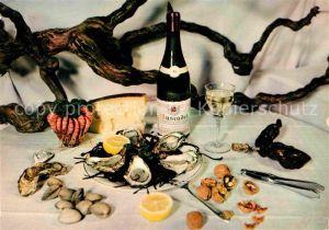 AK / Ansichtskarte Lebensmittel Fruits de Mer Degustation France  Kat. Lebensmittel