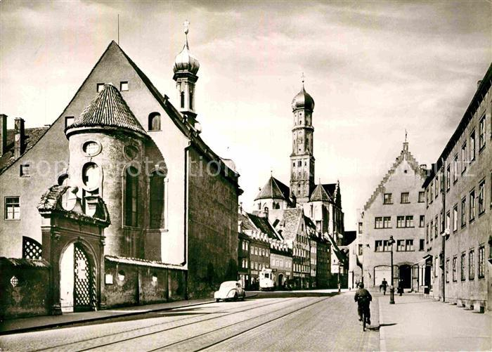 AK Ansichtskarte Augsburg Haus St Ulrich Akademie und