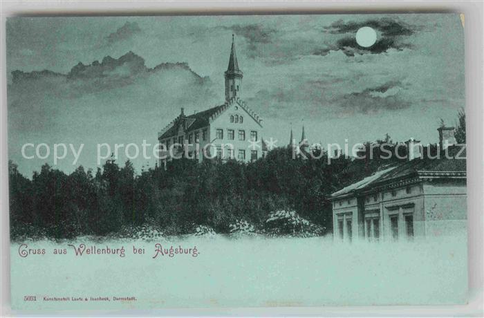 AK / Ansichtskarte Wellenburg Schloss Mondschein Kat. Augsburg