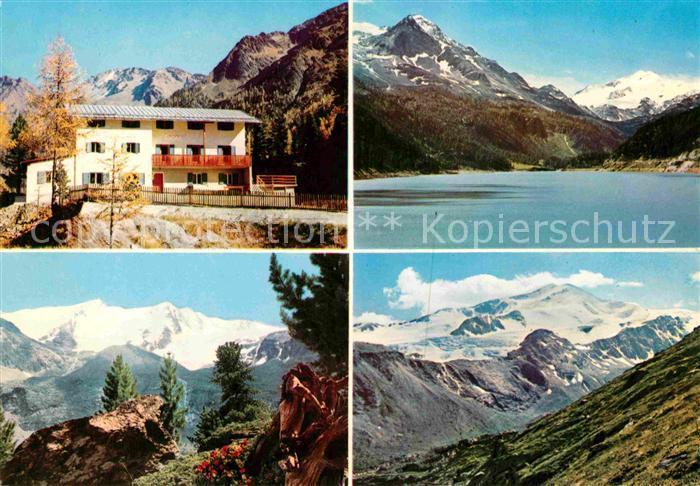 AK / Ansichtskarte Hintermartell Gasthaus Zum See Cevedale Ortlergebiet Nationalpark