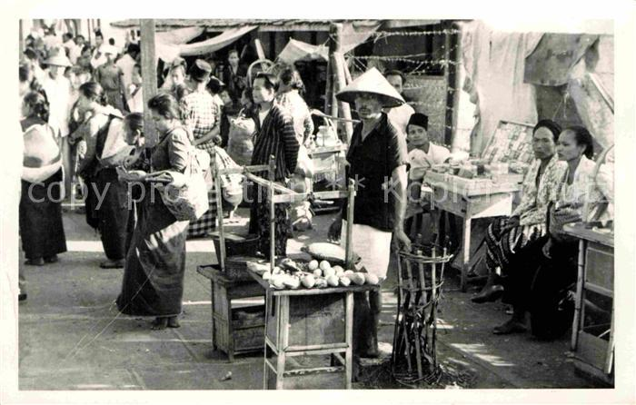 AK / Ansichtskarte Djakarta Market Java