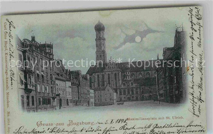 AK / Ansichtskarte Augsburg Maximiliansplatz mit St Ulrich Kat. Augsburg