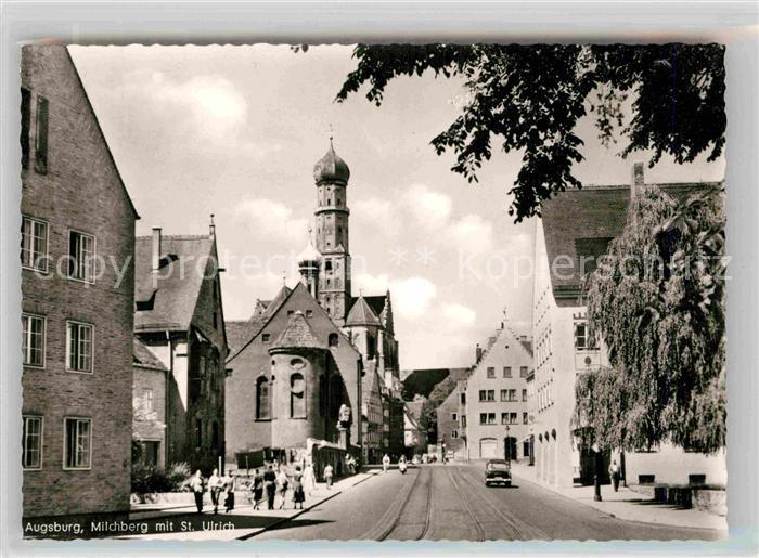 AK / Ansichtskarte Augsburg Milchberg mit St Ulrich Kat. Augsburg