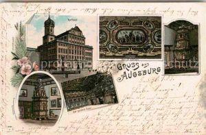 AK / Ansichtskarte Augsburg Rathaus Ofen Decke im Rathaus  Kat. Augsburg