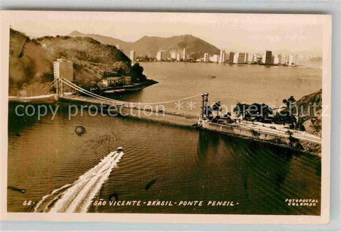 AK / Ansichtskarte Sao Vicente Sao Paulo Fliegeraufnahme Kat. Sao Vicente