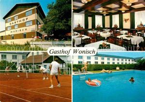 AK / Ansichtskarte Krottendorf Gasthof Wonisch Tennis Pool Kat. Krottendorf