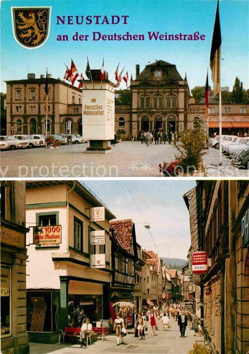 AK / Ansichtskarte Neustadt Weinstrasse Bahnhof Fussgaengerzone Kat. Neustadt an der Weinstr.