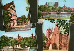 AK / Ansichtskarte Verden Aller Altes Buergerhaus Kirche Dom Rathaus Reiterdenkmal Kat. Verden (Aller)
