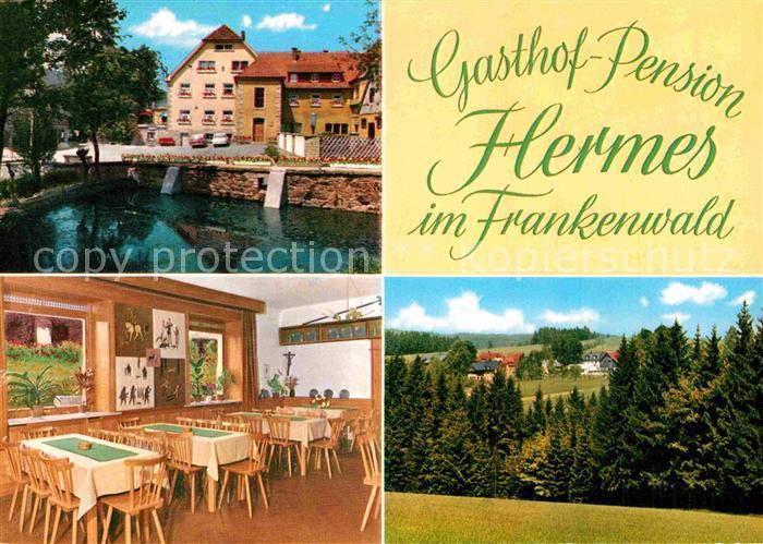 AK / Ansichtskarte Hermes Marktleugast Pension Haueis Landschaftspanorama Kat. Marktleugast