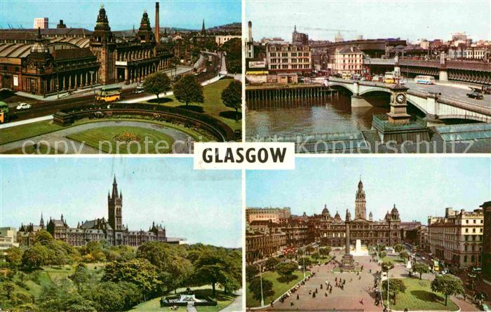 AK / Ansichtskarte Glasgow Kelvin Hall University King George V Bridge George Square Kat. Glasgow City