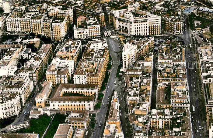 AK / Ansichtskarte Alger Algerien Fliegeraufnahme Rue Michelet La Poste Centrale Les Facultes