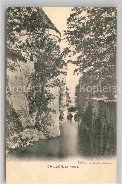 AK / Ansichtskarte Chillon Le Fosse Kat. Montreux