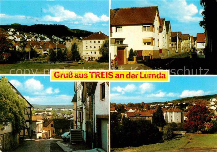 AK / Ansichtskarte Treis Lumda Teilansichten Strassenpartie Kat. Staufenberg
