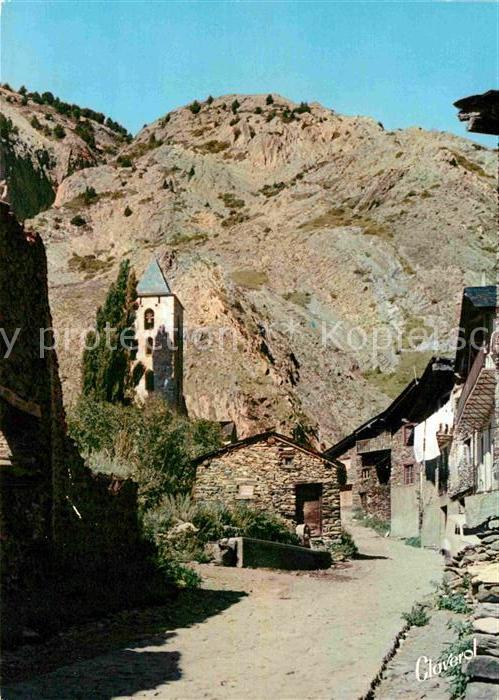AK / Ansichtskarte Valls d Andorra Canillo Carrer tipic