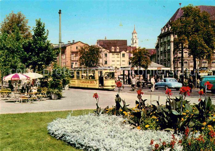AK / Ansichtskarte Augsburg Koenigsplatz Strassenbahn Kat. Augsburg