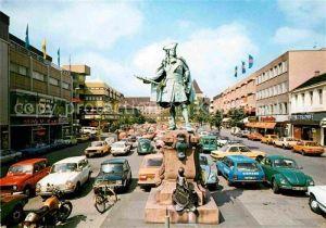 AK / Ansichtskarte Moers Neumarkt Denkmal Friedrich I Statue Kat. Moers