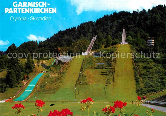 AK / Ansichtskarte Garmisch Partenkirchen Olympia Skistadion mit Schanzen Kat. Garmisch Partenkirchen