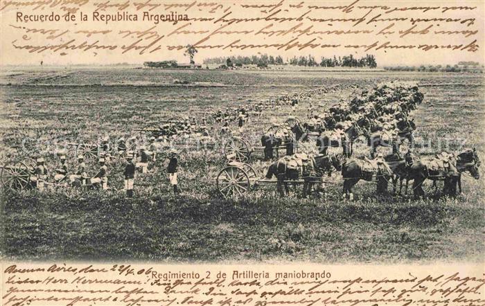 AK / Ansichtskarte Argentinien Regimiento 2 de Artilleria maniobrando Kat. Argentinien