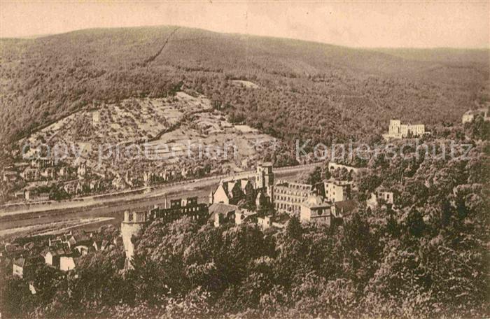 AK / Ansichtskarte Heidelberg Neckar Schloss von der Molkenkur gesehen Kat. Heidelberg