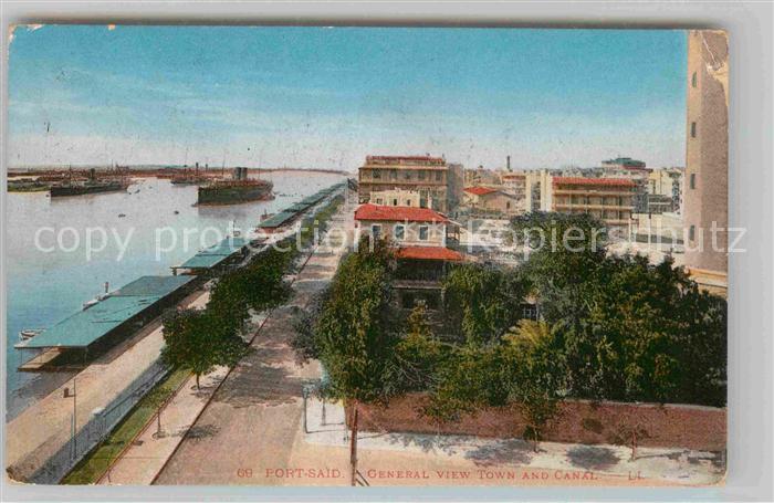 AK / Ansichtskarte Port Said General view and Canal Kat. Port Said