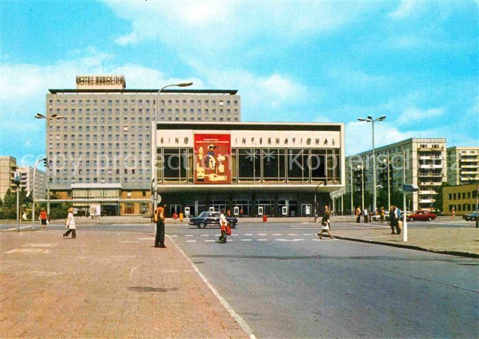 ak ansichtskarte berlin interhotel berolina und kino international kat berlin nr kb24254. Black Bedroom Furniture Sets. Home Design Ideas