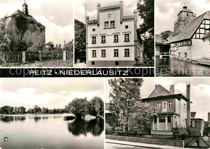 AK / Ansichtskarte Peitz Festungsturm Rathaus Hammerwerk Peitzer Teiche Ambulatorium Kat. Peitz