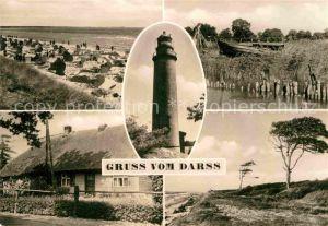 AK / Ansichtskarte Darss Region Ostsee Strand Darsser Haus Leuchtturm Duenenlandschaft Kat. Wieck Darss