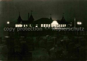 AK / Ansichtskarte Ahlbeck Ostseebad Seebruecke HO Gaststaette Nachtaufnahme Kat. Heringsdorf Insel Usedom
