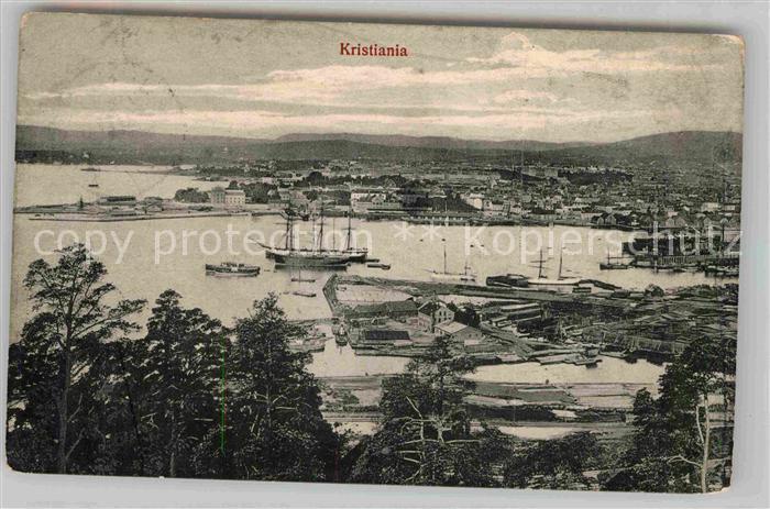 AK / Ansichtskarte Kristiania  Panorama  Kat. Daenemark