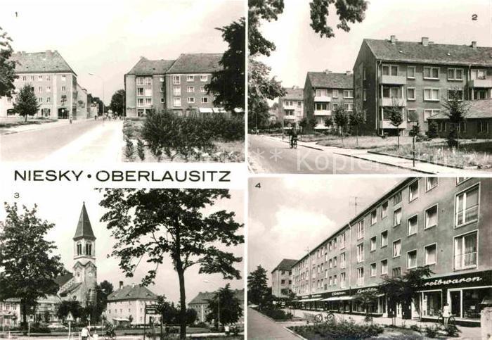 AK / Ansichtskarte Niesky Zinzendorfplatz AWG Siedlung Strasse der Befreiung Kat. Niesky