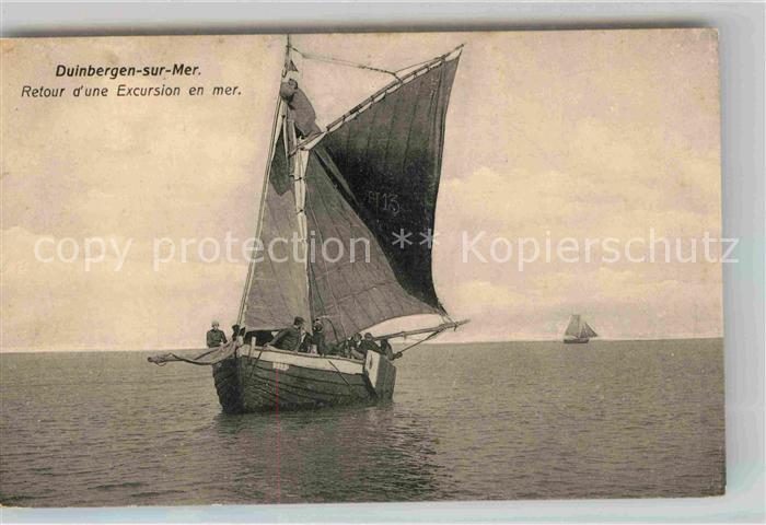 AK / Ansichtskarte Duinbergen Retour d une Excursion en mer Kat.