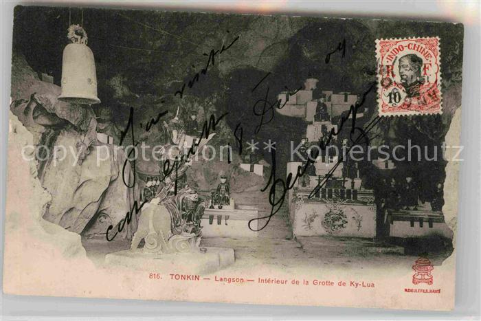 AK / Ansichtskarte Tonkin Langson Interieur de la Grotte de Ky Lua Kat. Vietnam