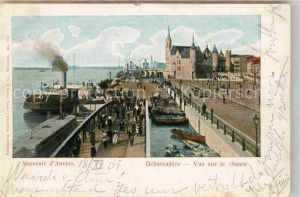 AK / Ansichtskarte Anvers Antwerpen Debarcadere Vue sur le Steen Kat.