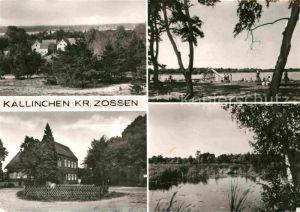 AK / Ansichtskarte Kallinchen Teilansichten Strandbad See Kat. Zossen