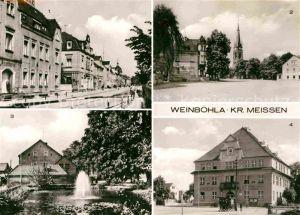 AK / Ansichtskarte Weinboehla Bahnhofstrasse Kirchplatz Anlagen Karl Liebknecht Platz Kat. Weinboehla