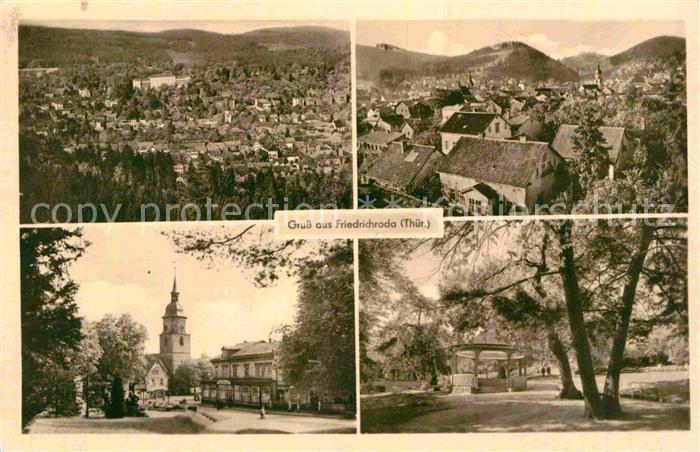 AK / Ansichtskarte Friedrichroda Panorama Teilansichten Kirche Park Kat. Friedrichroda