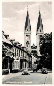 AK / Ansichtskarte Halberstadt Domplatz Kat. Halberstadt