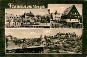 AK / Ansichtskarte Frauenstein Sachsen Teilansichten Marktplatz Kirche Burgruine Kat. Frauenstein Sachsen