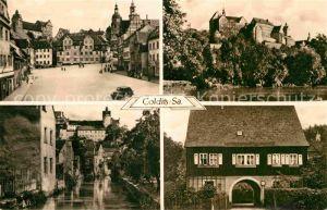 AK / Ansichtskarte Colditz Teilansichten Partie am Fluss Schloss Kat. Colditz