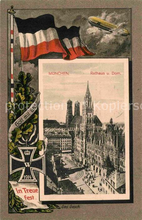 München Karte Schwarz Weiß.Ak Ansichtskarte Muenchen Rathaus Dom Schwarz Weiss Rot Kat Muenchen