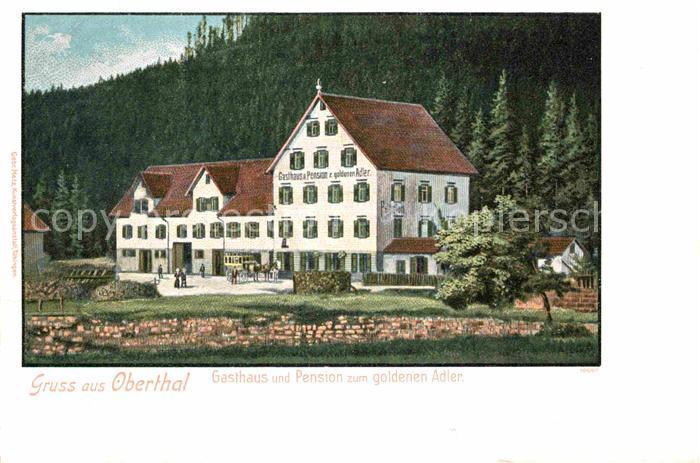 AK / Ansichtskarte Obertal Baiersbronn Gasthaus zum goldenen Adler  Kat. Baiersbronn